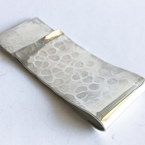 Hammered Sterling Silver Money Clip