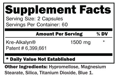 KRE-ALKALYN 120ct SUPPLEMENT FACTS