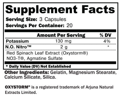 N.O. NITRO SUPPLEMENT FACTS