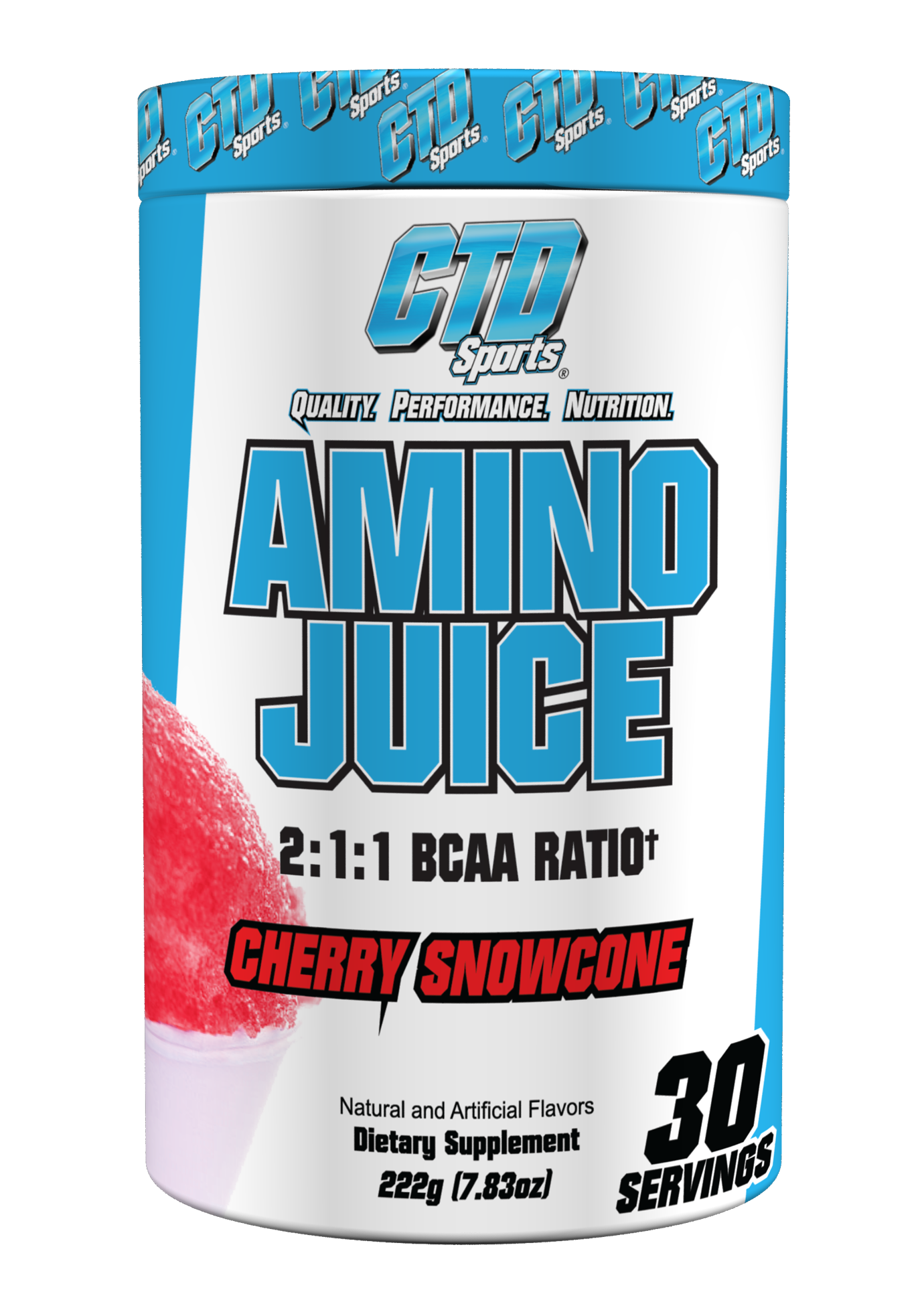 CTD Sports Amino Juice Cherry Snowcone