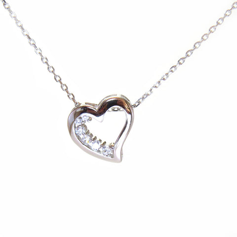 Sterling Silver Sweetheart Necklace - Sterling Candle