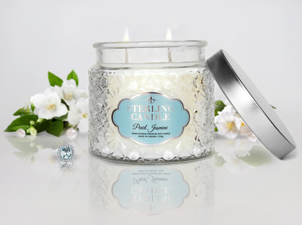 Jasmine Ring Candle with Charmed Aroma Sterling Candle Jewelry Inside
