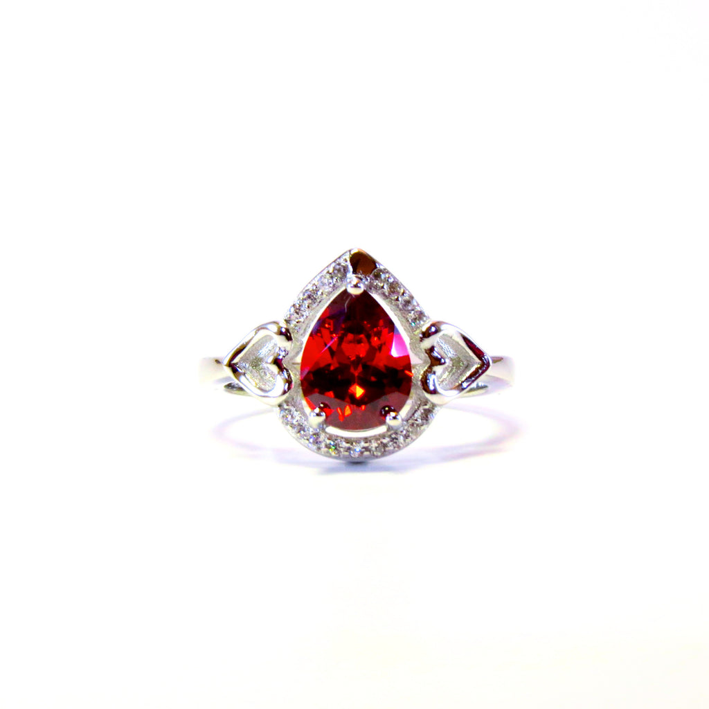 Sterling Silver Merlot Ring - Sterling Candle