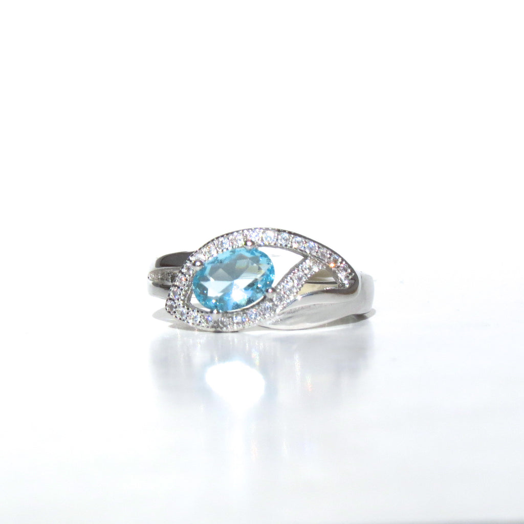 Sterling Silver Blue Nile Eye Ring - Sterling Candle