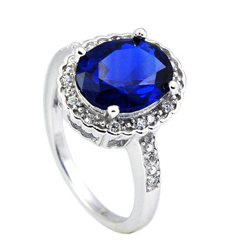 Sterling Silver Blue Katherine Ring - Sterling Candle
