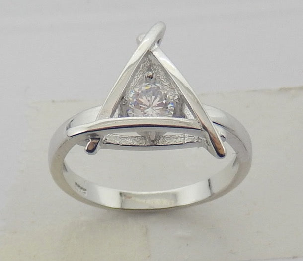 Sterling Silver Trios Ring - Sterling Candle