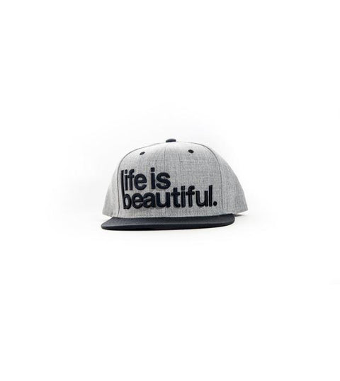 3D Logo Snapback - Heather Grey/Black