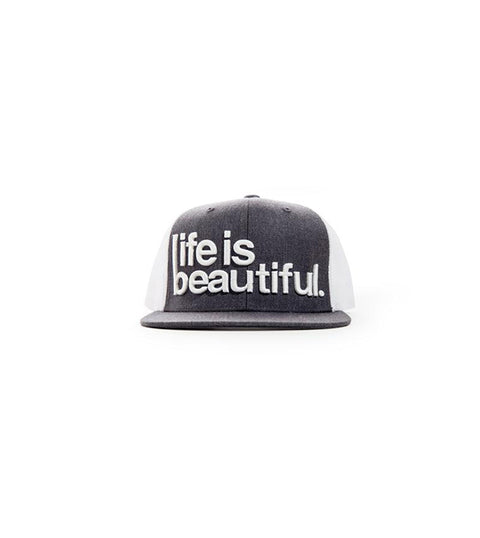 3D Logo Snapback - Heather Charcoal/White
