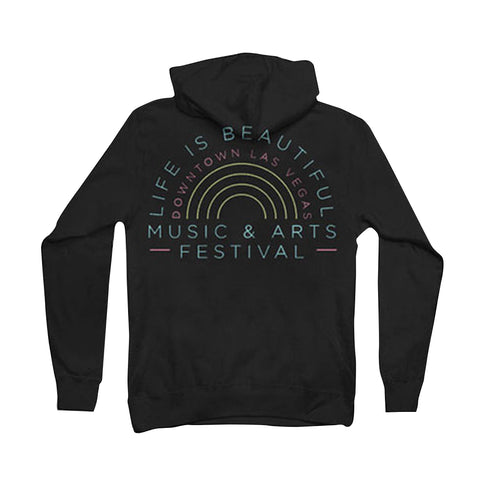 "Black ""You Are Beautiful"" Zip Up Hoodie"