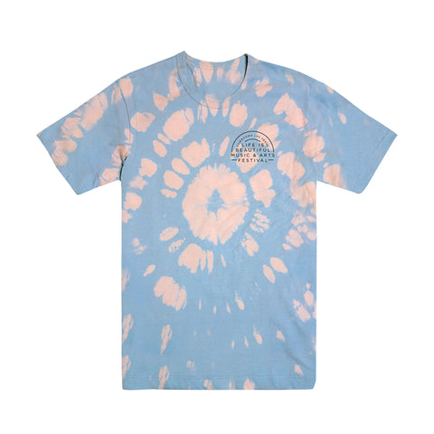 Blue Custom Bleached Dyed Tee
