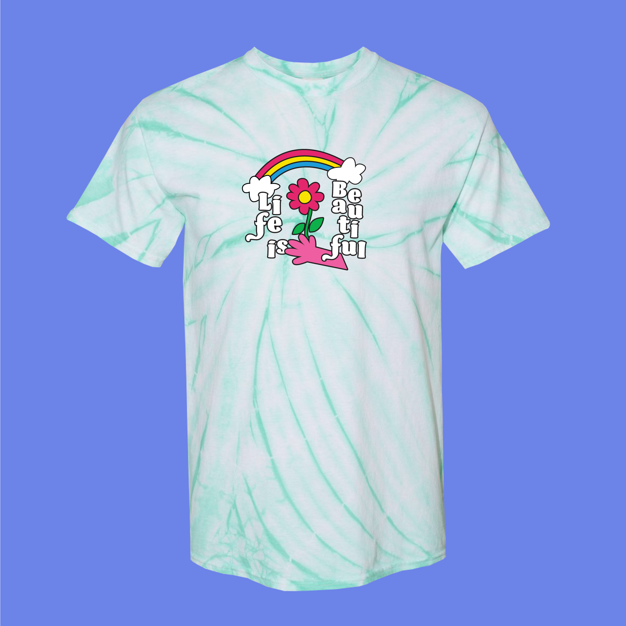 Flower Rainbow Tie Dye Tee by Demir Mujagic