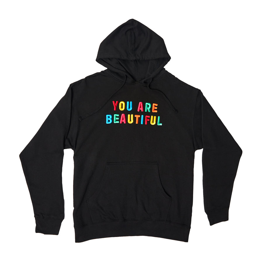 You Are Beautiful Embroidered Hoodie