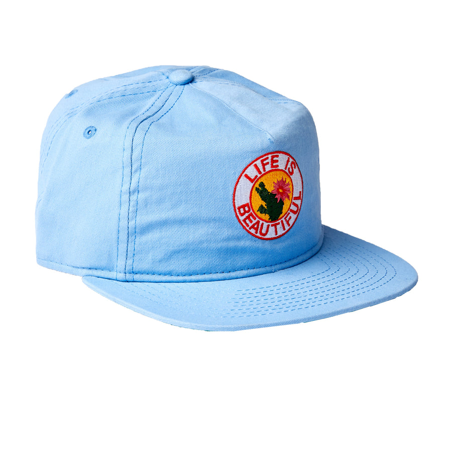 Cactus Blue Hat w/ Leather Strapback
