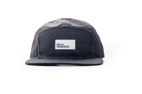 Logo Woven Patch Camp Hat - Black