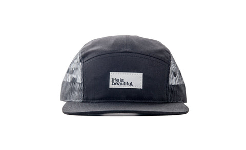 Logo Woven Patch Camp Hat - Black Mesh