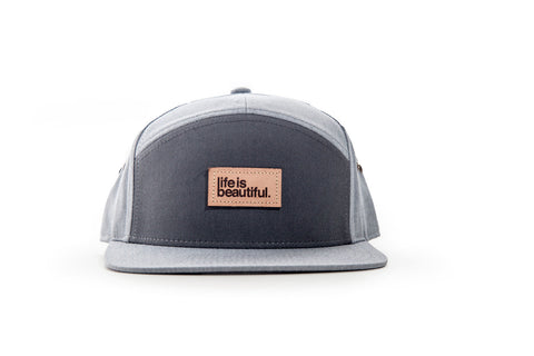 Logo Leather Patch - Charcoal/Heather Grey