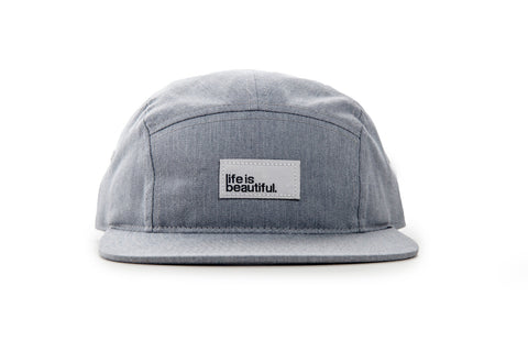 Logo Woven Patch Camp Hat - Heather Grey