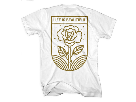 Rose Outline T-Shirt in White