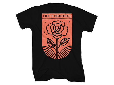 Rose Fill T-Shirt in Black
