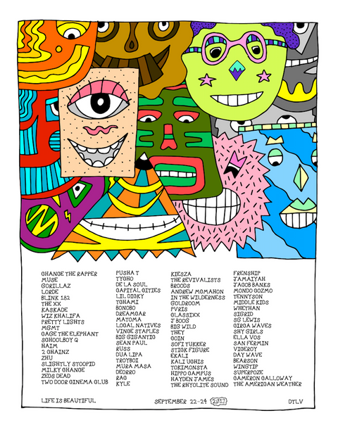 "18"" x 24"" Pretty Done Limited Edition Festival Poster"
