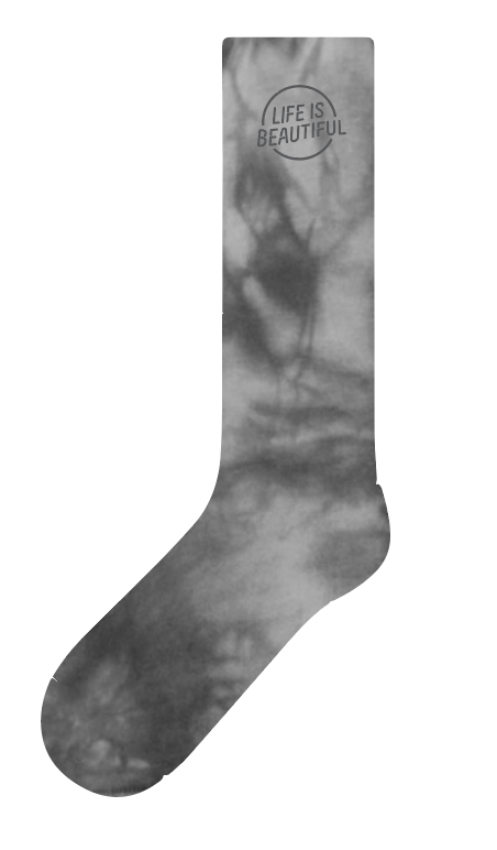 LS-1 Gray Tiedye Socks
