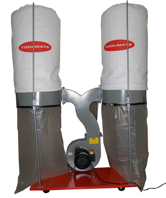 Toolmate Dust Extractor, Double Bag FM300, Single Stage, 3HP