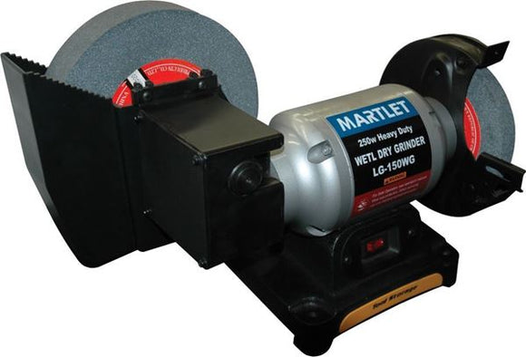 Martlet Wet & Dry Bench Grinder, Dual Wheel, Heavy Duty, 250W