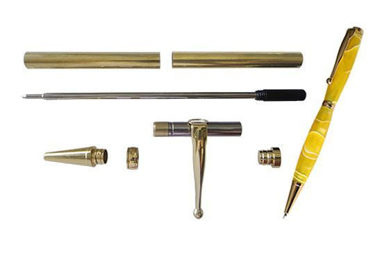 Pen Kit Fancy Slimline Gold