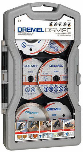 Dremel DSM20 7Pc Cutting Disc Set