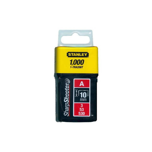 Staples 10mm Stanley TRA206T 1000Pcs - Light Duty, Type A
