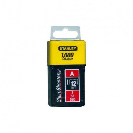 Staples 12mm Stanley TRA208T 1000Pcs - Light Duty, Type A