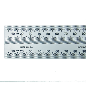 "INCRA Precision Marking Ruler,10"", Decimal Inches & Metric Scales (250mm)"
