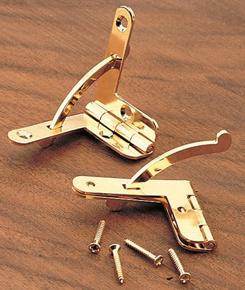 Highpoint Quadrant Hinge, Gold Plated, Economical, Pair