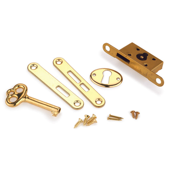 Highpoint Lock, Small Box, Solid Brass & Gold Plated