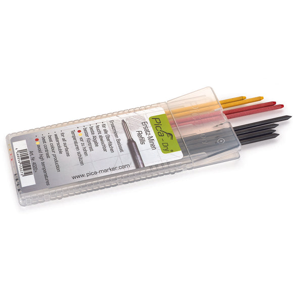 Pica Dry Graphite Leads, Refill Set, Assorted Colours, 8 Pack