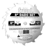 "Freud Dado Set, Stacking, 8"", Professional, Silver I.C.E, for Table Saw"