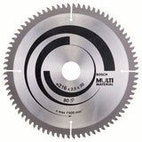 Bosch Saw Blade, Top Precision, Multi-Material, Ø-216, 80 Tooth