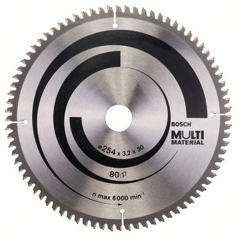 Bosch Saw Blade, Top Precision, Multi-Material, Ø-254, 80 Tooth