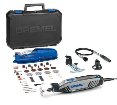 Dremel 4300-3/45 Corded Multi Tool with 45 Accessories + 3 Attachments