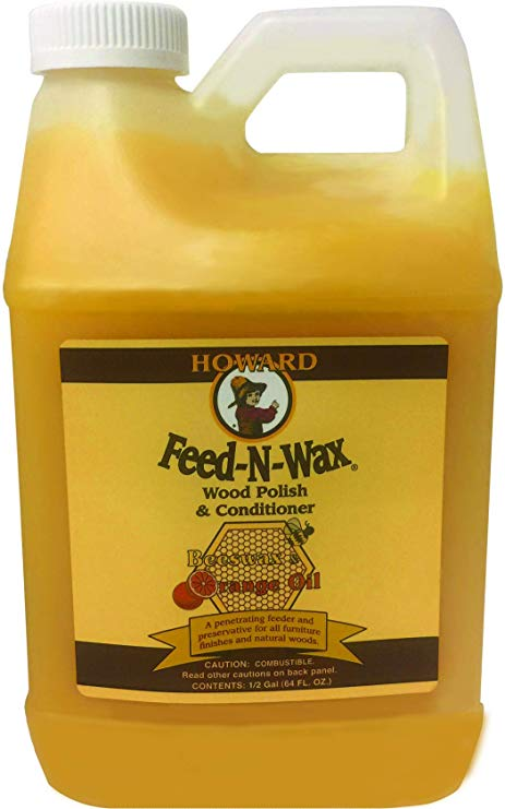 Howard Feed & Wax, Wood Polish & Conditioner,, 64 FL 0Z