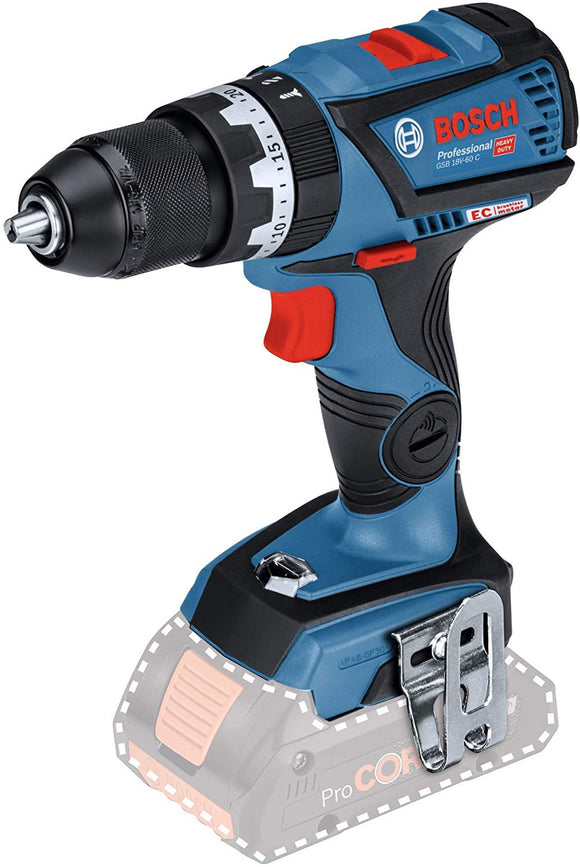 Bosch Drill, Combi, Cordless, GSB 18V-60 C , CardBoard Box, Solo, Tool Only, no Batteries or Charger