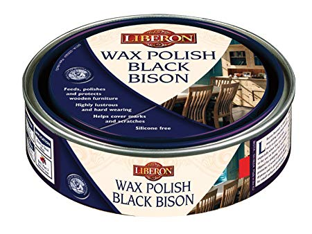 Liberon Black Bison Paste Wax, Victorian Mahogany, 150ml