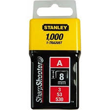 Staples 8mm Stanley TRA205T 1000Pcs- Light Duty, Type A