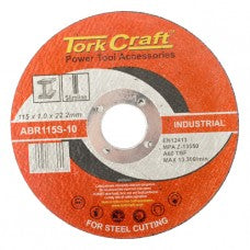 Torkcraft Cutting Disc, for Metal, 115mm x 1.0mm, 22.2mm Arbor
