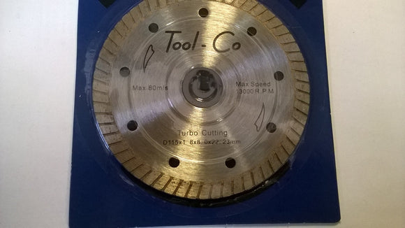 Toolco Diamond Blade 115mm Turbo Standard