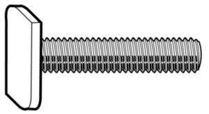 Toolcraft T-Track Bolts, M8, 68mm (10 pack)