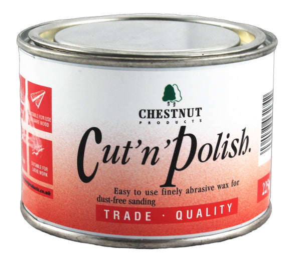 Chestnut Wax, Cut 'n Polish, Fine Abrasive Wax, 225ml