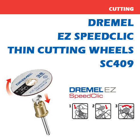 Dremel SpeedClic Thin Cutting Wheels 0.75 x 38mm 5Pk | SC409