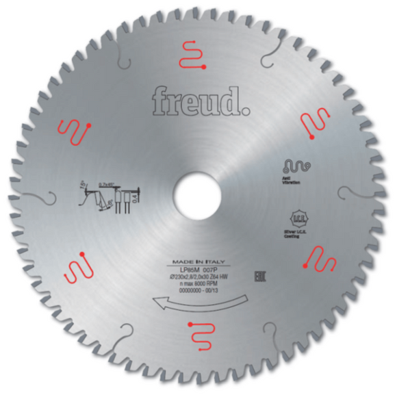 Freud Blade Ø190mm x 30mm x 54 Tooth (ideal for non-ferrous metals, bilaminate) LP85M004P