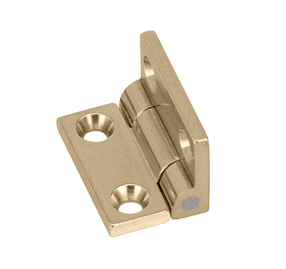 Brusso Box Hinge, Small, JB-101, Solid Brass, 95º Positive Stop, Pair c/w Screws